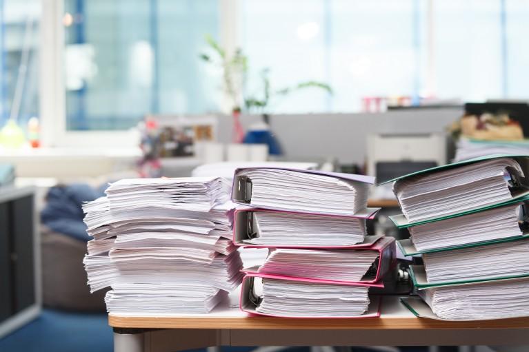 Ordnung am Schreibtisch